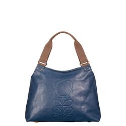 Orla Kiely  leather indigo shoulder bag