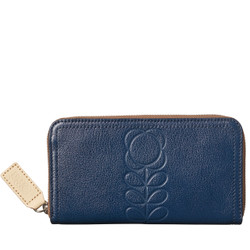 Orla Kiely Blue Wallet