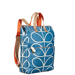 Blue Orla Kiely Backpack