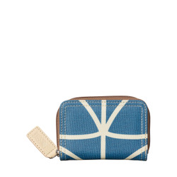 Orla Kiely Medium Zip Wallet Marine