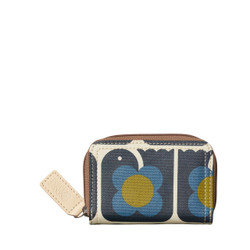 Orla Kiely Lovebird Medium Zip Print Wallet
