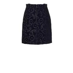 Orla Kiely Navy Jacquard Skirt