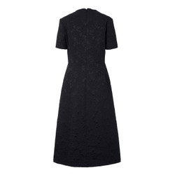 Orla Kiely Navy Bow Midi Dress