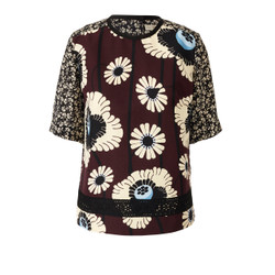 Orla Kiely Silk Cotton Top Wine