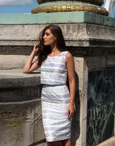 Aideen Bodkin Piri Dress Aztec Print
