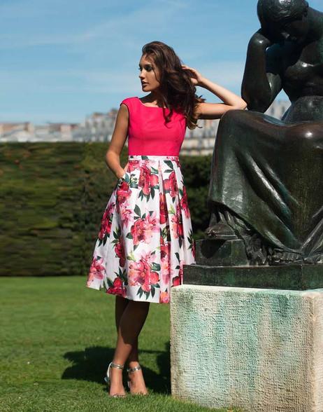 Aideen Bodkin Cedro Rose Print Dress