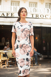 Dress by Aideen Bodkin Margo Jersey Dress Cream