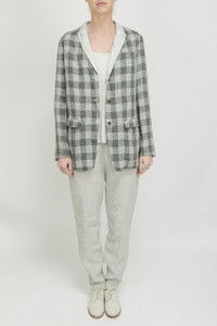 Transit Par Such Grey Check Jacket