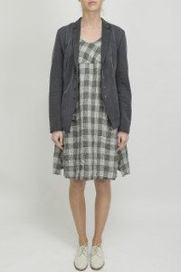 Transit Grey Check Dress with Jacket