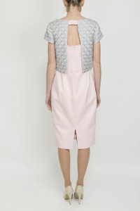 Aideen Bodkin Piri Two Fabric Dress - back