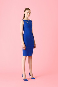 Nabila – Mix Stretch jersey sheath dress.