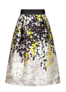 Fee G Leaf Print Skirt