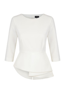 Fee G Cream Peplum Top