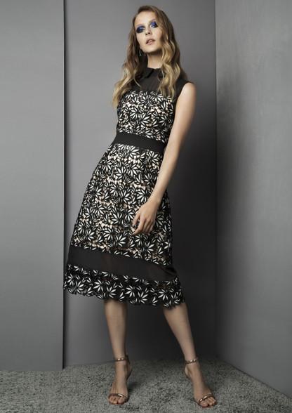 Fee G Lace Panel Dress