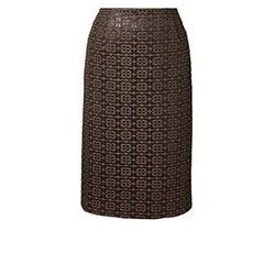 Orla Kiely Flower Check Jaquard Pencil Skirt
