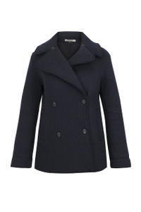Transit Par Such Navy Wool Jacket