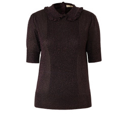 Orla Kiely Lurex Frill Collar Top