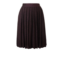 Orla Kiely Lurex Pleated Skirt