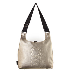 Orla Kiely Midi Sling Bag Pale Gold
