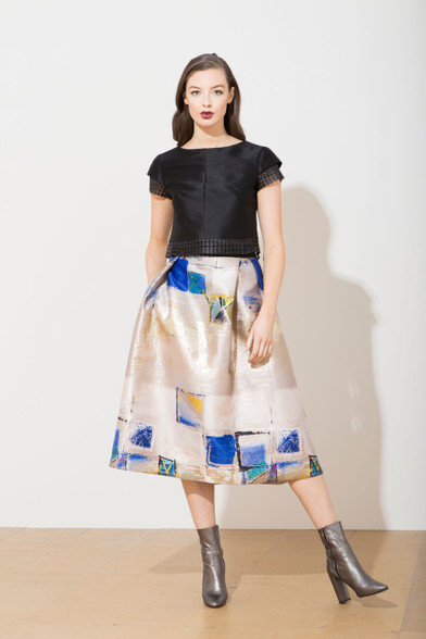 Caroline Kilkenny Abstract Sabi Skirt