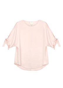 Fee G Blush Silk Top