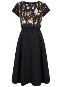 Fee G Black lace Bodice Dress