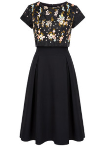 Fee G Black lace Bodice Dress