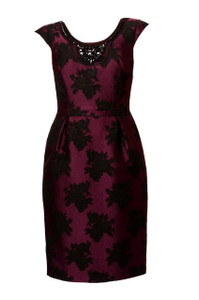 Aideen Bodkin Grable Plum Dress