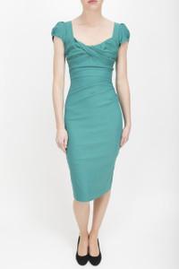 Stop Staring Green Dress Model