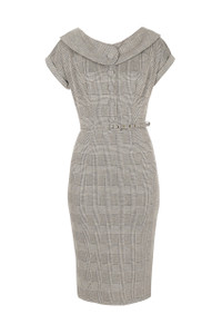 Stop Staring Houndstooth Dress