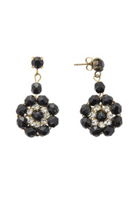 Pat Whyte Black Flower Earring