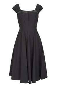 Stop Staring Full Skirt Black Dress
