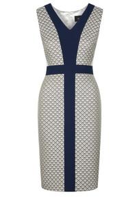 Fee G V Neck Jacquard Dress.