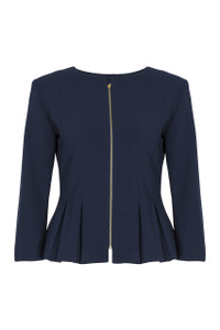 Fee G Zip Peplum Jacket.