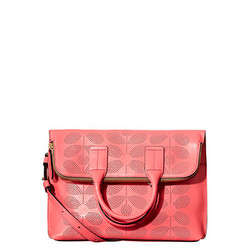 Orla Kiely Stem Leather Juniper Bag Pink