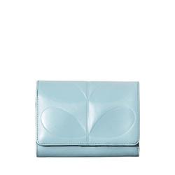 Orla Kiely Embossed Stem Medium Folded Purse Sky Blue