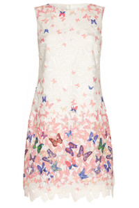 Almost Famous Butterfly Lace Dress Pink