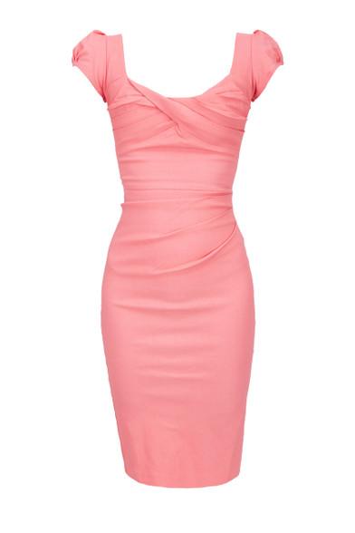 Stop Staring Coral Dress