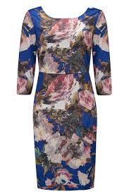 Almost Famous Floral Dress Blue