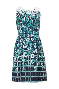 Adrianna Papell Floral Skater Dress