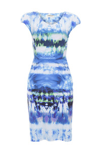 La Petite Robe Morgan Blue Paint Dress