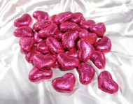 Pink Milk Chocolate Hearts - per pound