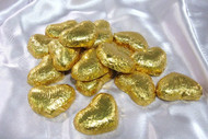 Gold Dark Chocolate Hearts - per pound