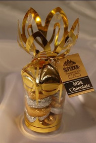 "6 oz. ""Gold & Silver Hearts"" in Gold Gift Bouquet"