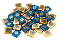 Foiled Milk Chocolate Chanukah Napolitains - Per Pound