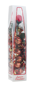 "6 oz Dark Chocolate ""Truffle Tower"" with Rose"