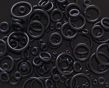 8pc Black O-RINGS for Tapers Plugs Gauges ear rubber