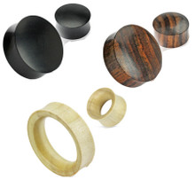 3 Pair Organic Wood Ear Plugs Tunnels Gauges 6g 4g 2g 0g 00g 1/2 3/4 30mm 32.5mm