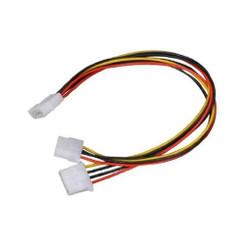 CB-Y12 12inch 4Pin Molex (M) to 2 X 4Pin Molex (F) Y Cable splitter