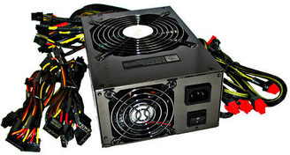 Works 1200W ATX 12V and EPS 12V Computer Power Supply, Active PFC, CrossFire and SLI Ready, w/ 135m